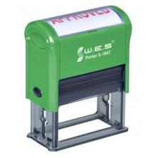 WES S-1847 (18х47 mm) Автоматическая оснастка для печати.